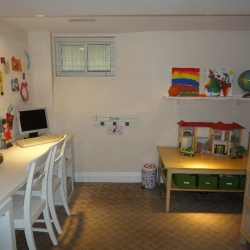 Kids\' Area in Basement – after