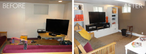 Basement organization before and after by kAos Group