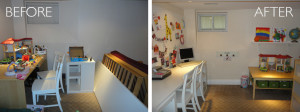 Kids' Area organization before and after by kAos Group