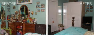 Bedroom organization before and after by kAos Group