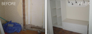 Foyer organization before and after by kAos Group
