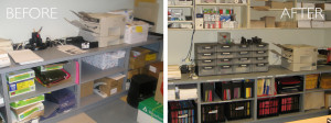 Office organization before and after by kAos Group